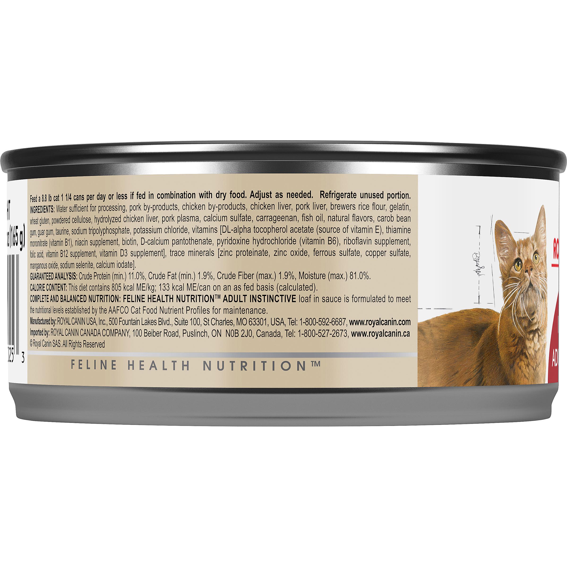 Royal Canin Feline Health Nutrition Adult Instinctive Loaf In Sauce Canned Cat Food