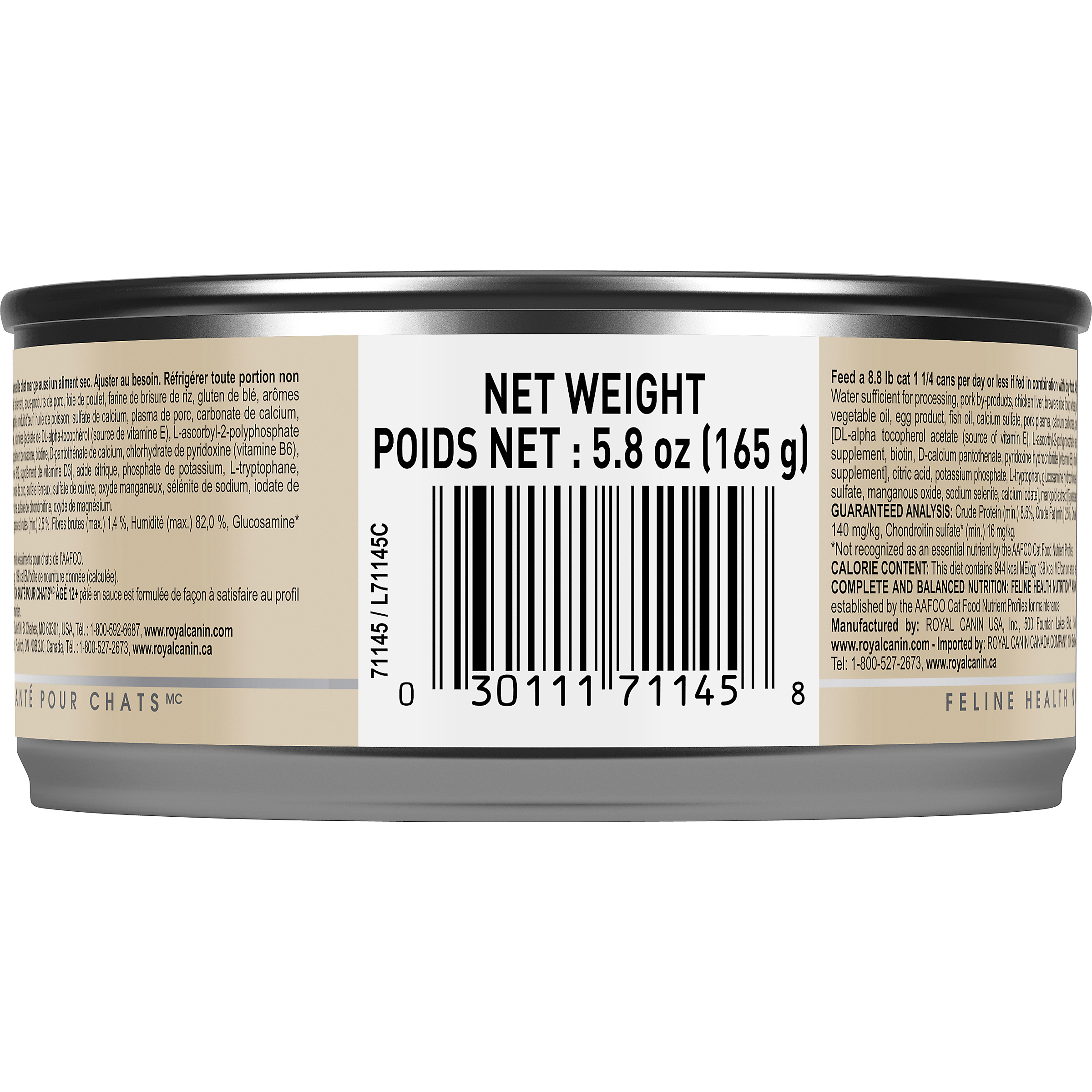 Royal Canin Feline Health Nutrition Aging 12+ Loaf In Sauce Canned Cat Food