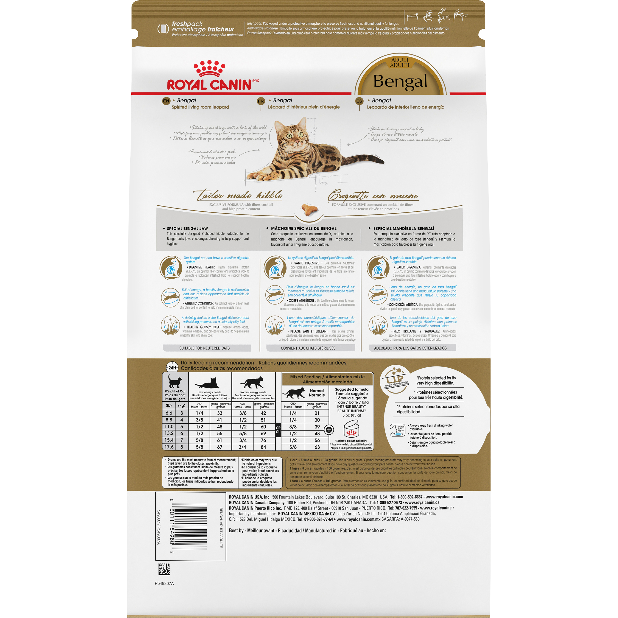 Royal Canin Feline Breed Nutrition Bengal Dry Cat Food