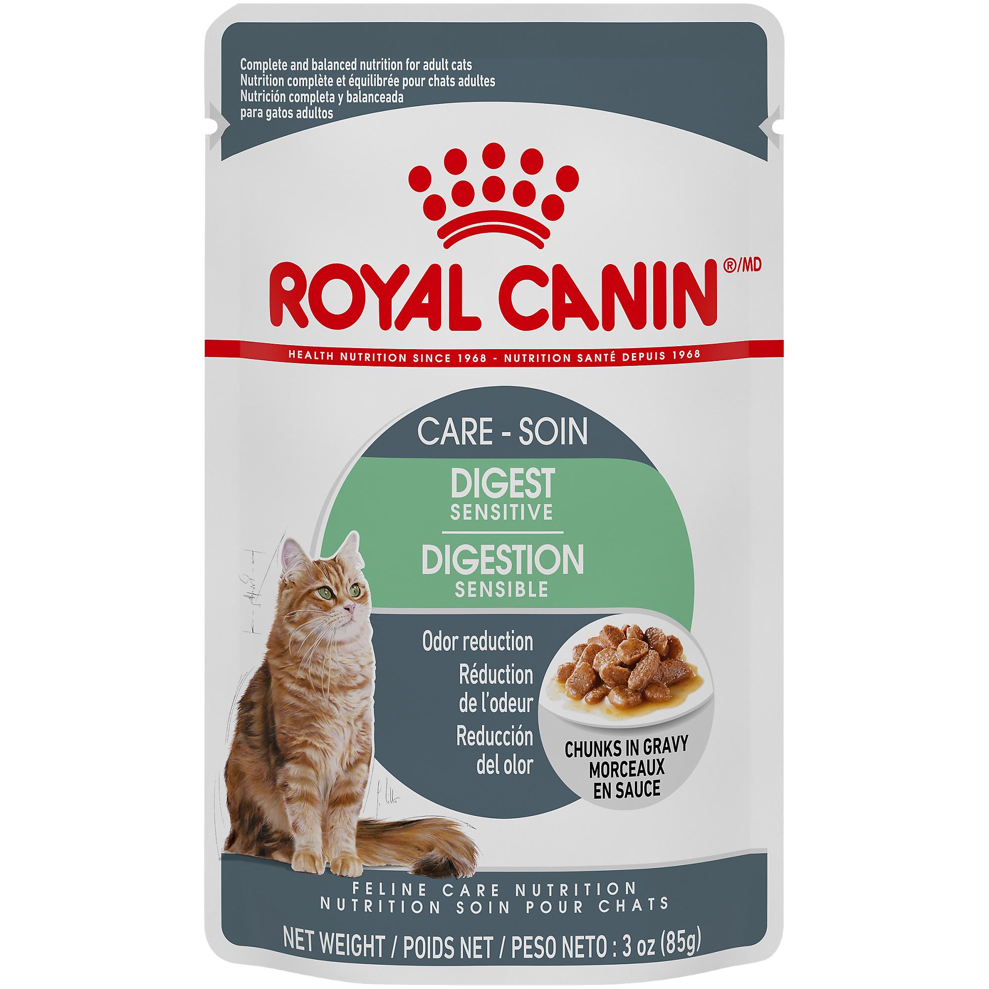 Royal Canin Feline Health Nutrition Digest Sensitive Chunks in Gravy Pouch