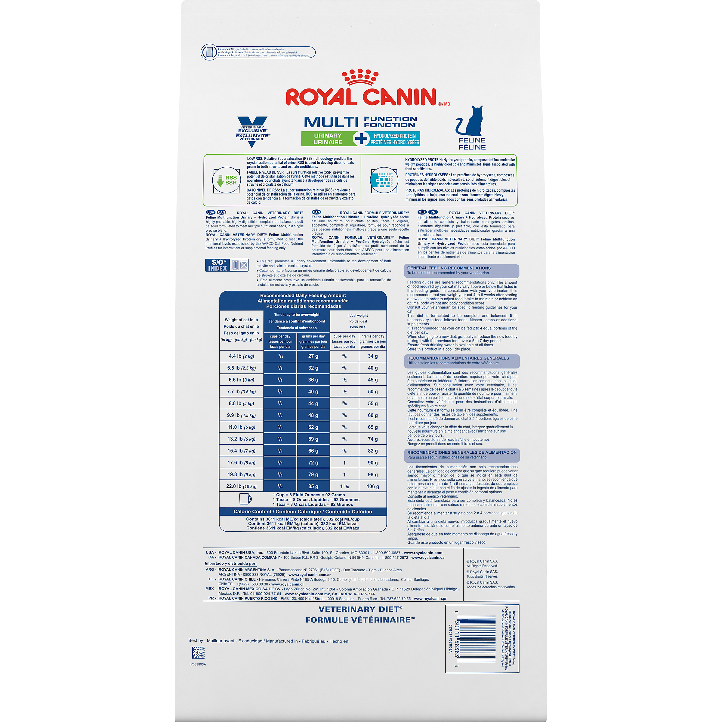 Royal Canin Veterinary Diet Feline Multifunction Urinary + Hydrolyzed Protein Dry Cat Food