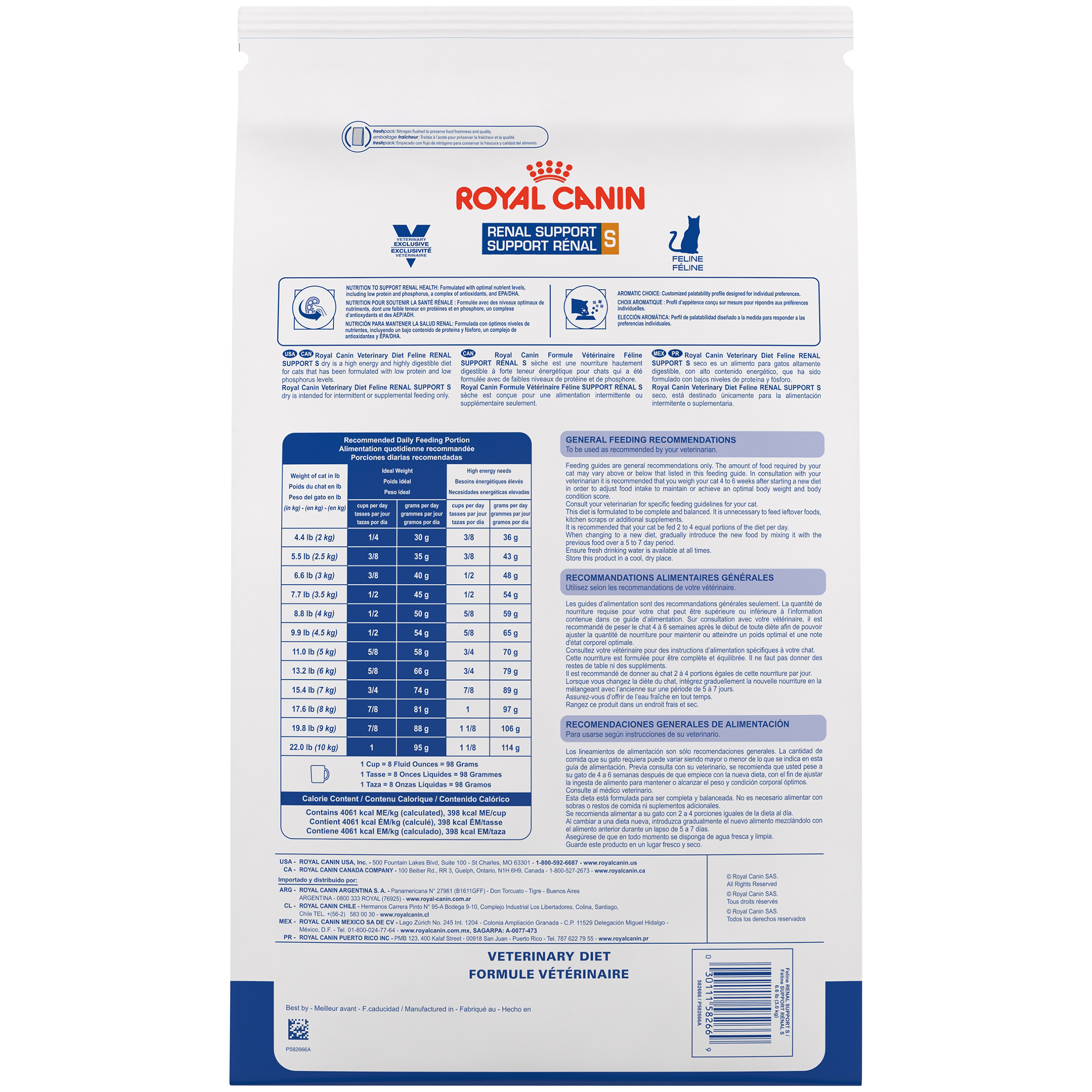 Royal Canin Veterinary Diet Feline Renal Support S Dry Cat Food