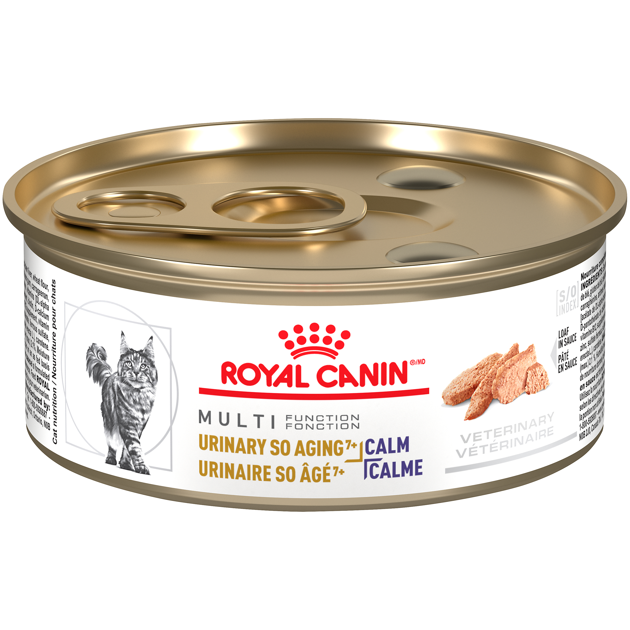 Royal Canin Veterinary Diet Feline Urinary SO Aging7+ + Calm Canned Cat Food