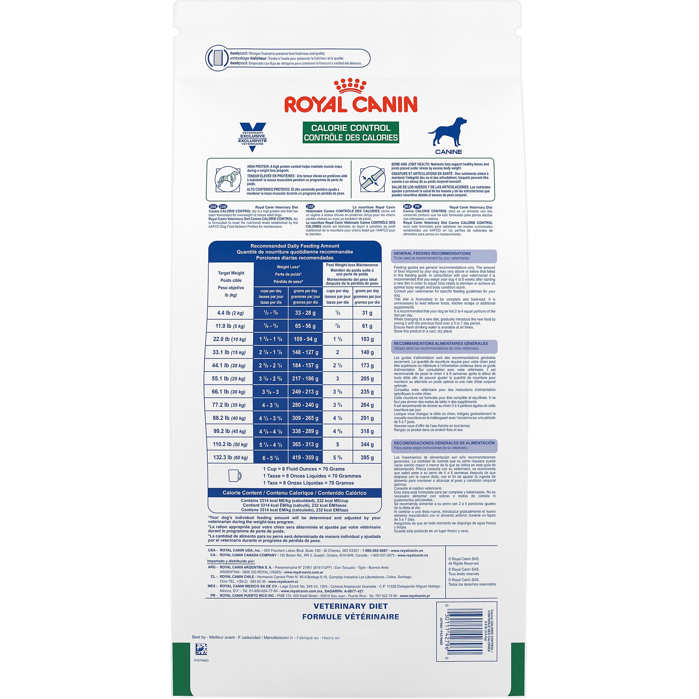 Royal Canin Veterinary Diet Canine Calorie Control Dry Dog Food