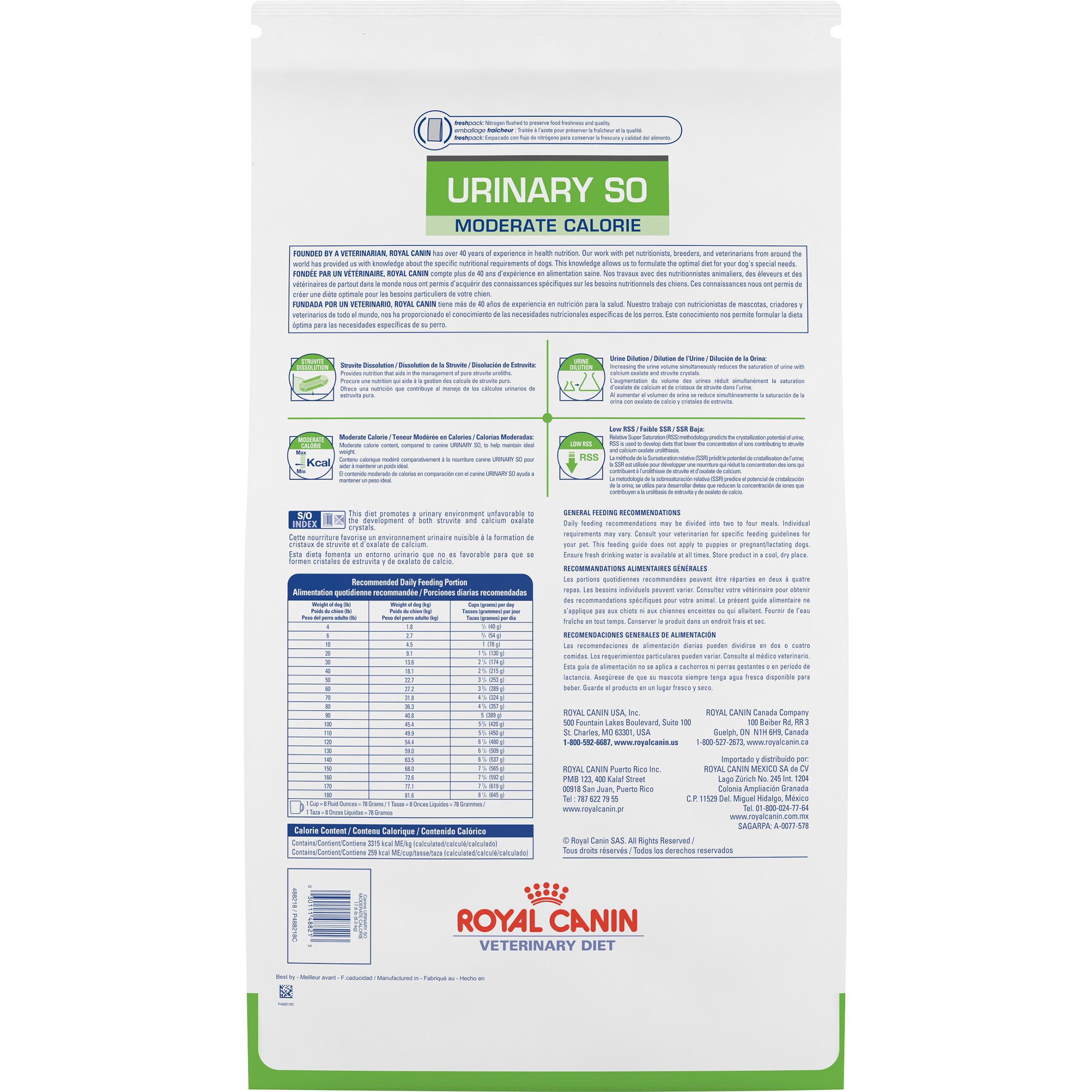 Royal Canin Veterinary Diet Canine Urinary So Moderate Calorie Dry Dog Food