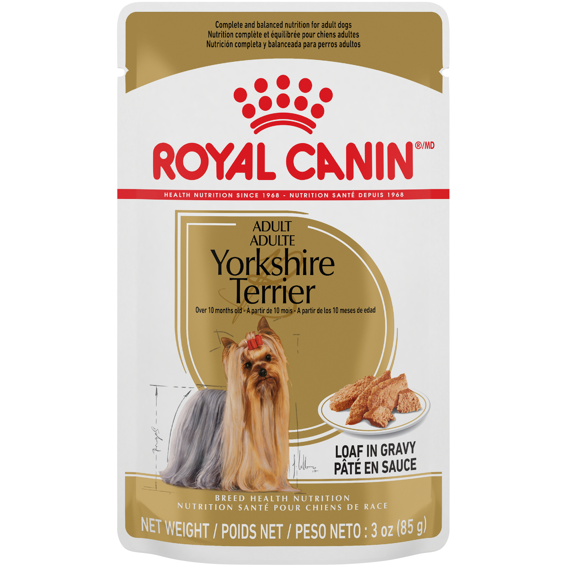 Royal Canin Breed Health Nutrition Yorkshire Terrier Pouch Dog Food