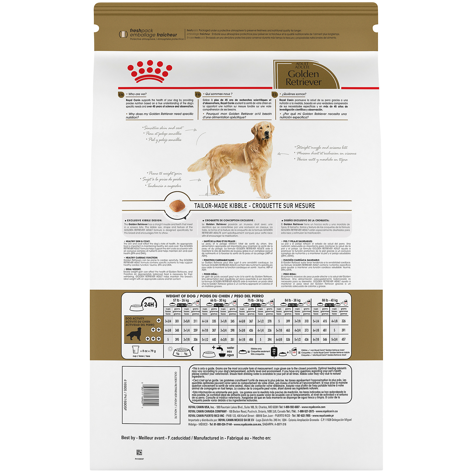 Royal Canin Breed Health Nutrition Golden Retriever Adult Dry Dog Food