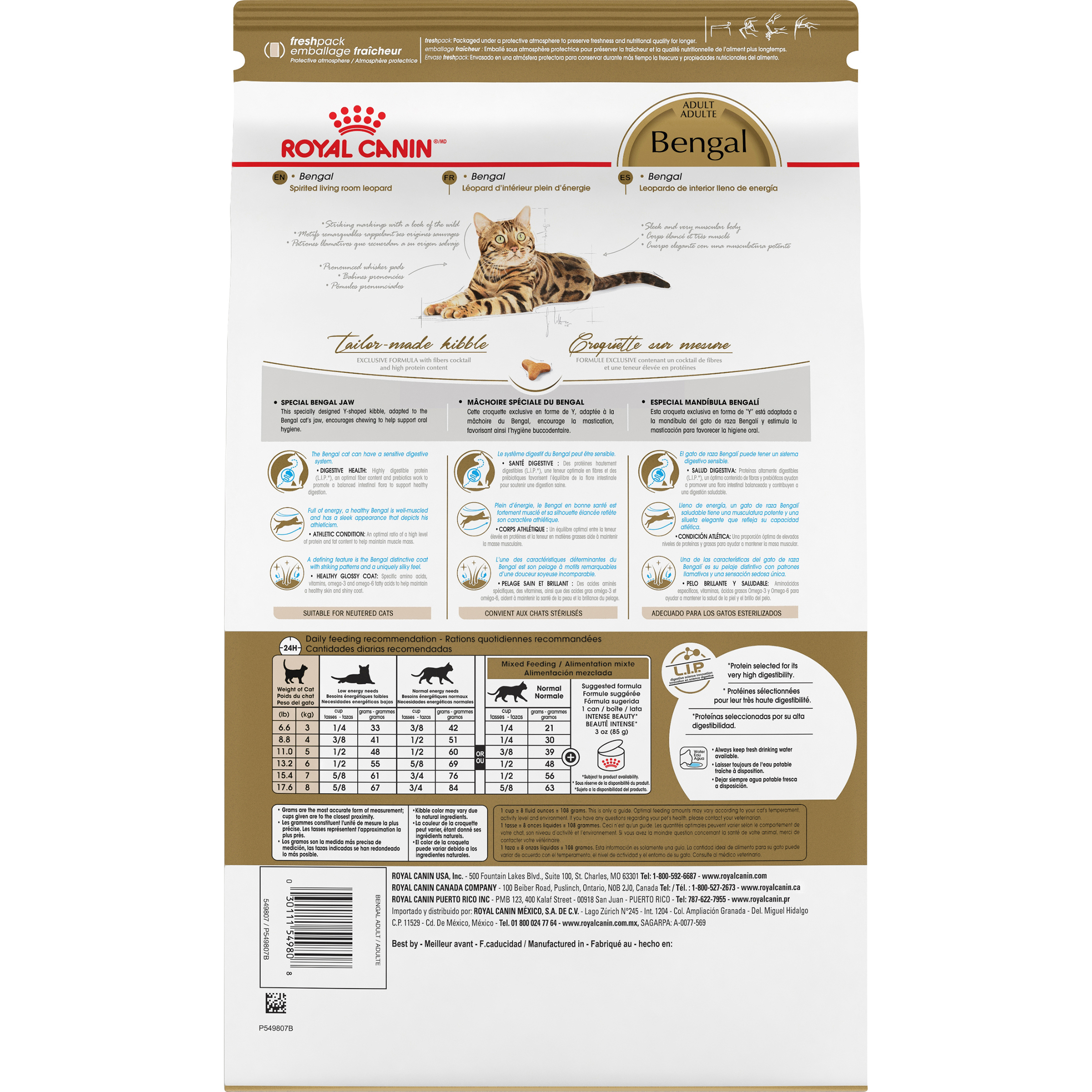 Royal Canin Feline Breed Nutrition Bengal Adult Dry Cat Food