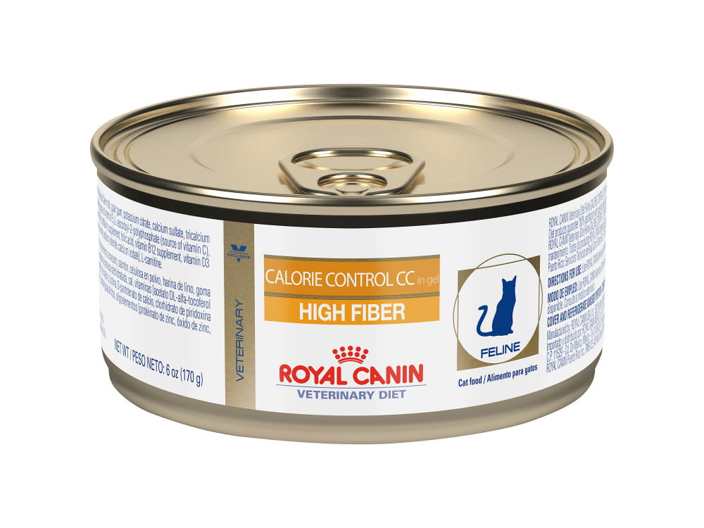Royal Canin Veterinary Diet Feline Calorie Control CC High Fiber Canned Cat Food