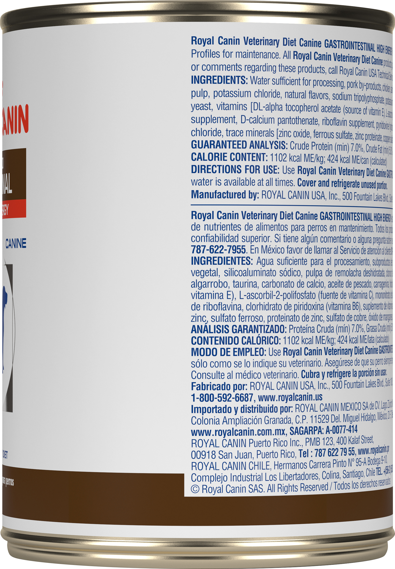 Royal Canin Veterinary Diet Canine Gastrointestinal High Energy Canned Dog Food
