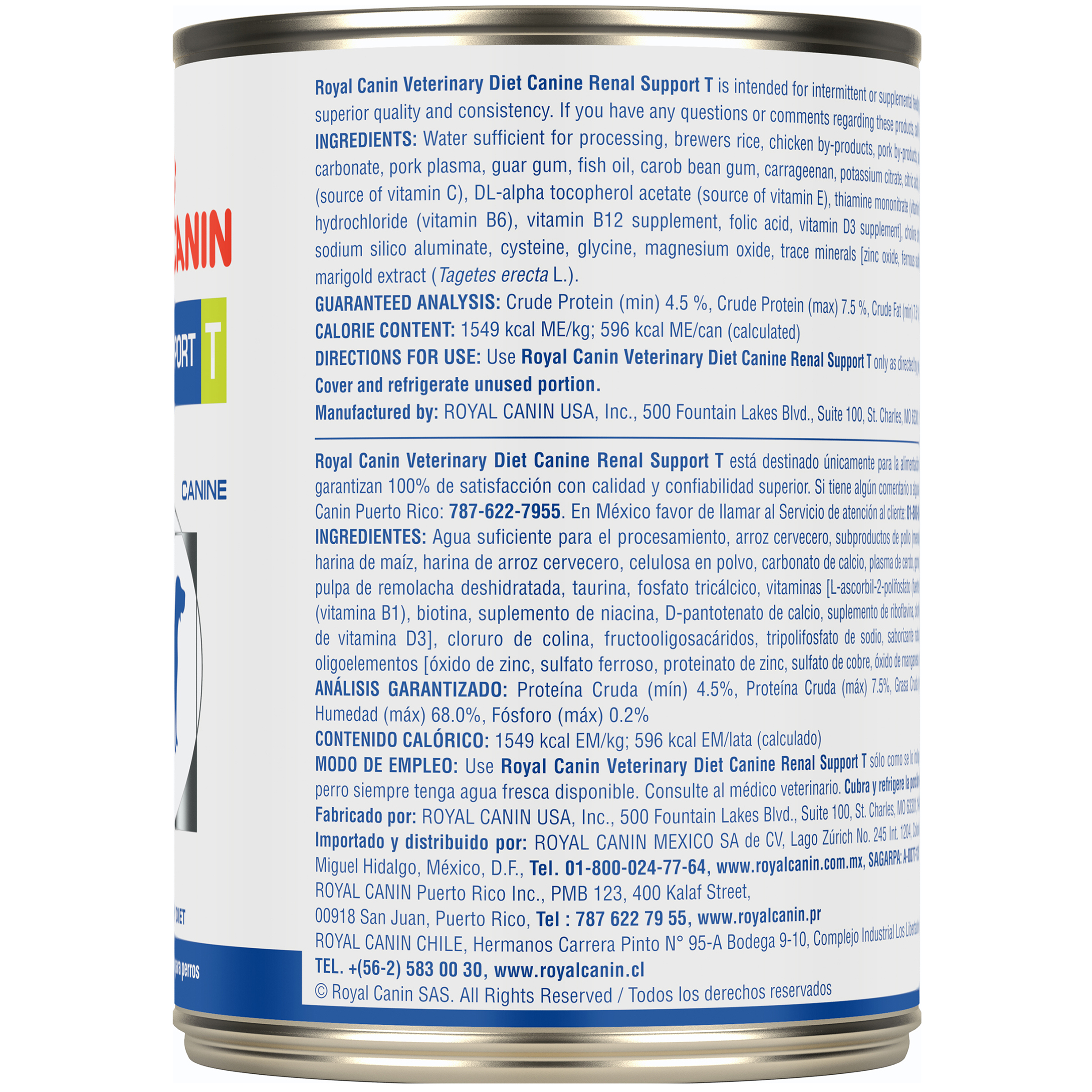 Royal Canin Veterinary Diet Canine Renal Support T Canned Dog Food
