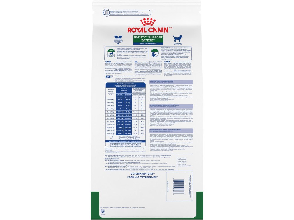 Royal Canin Veterinary Diet Canine Satiety Support Weight Management Small Dog Dry Dog Food