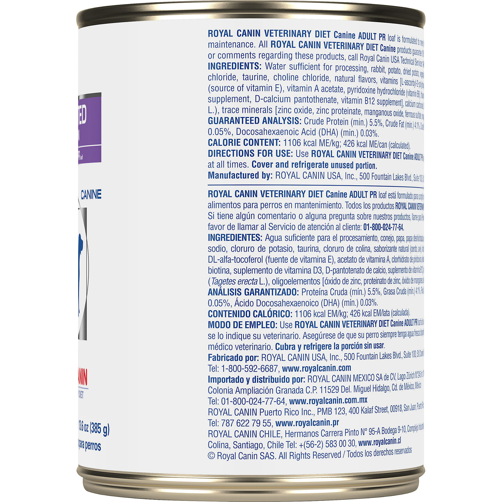 Royal Canin Veterinary Diet Canine Selected Protein Adult PR Canned Dog Food