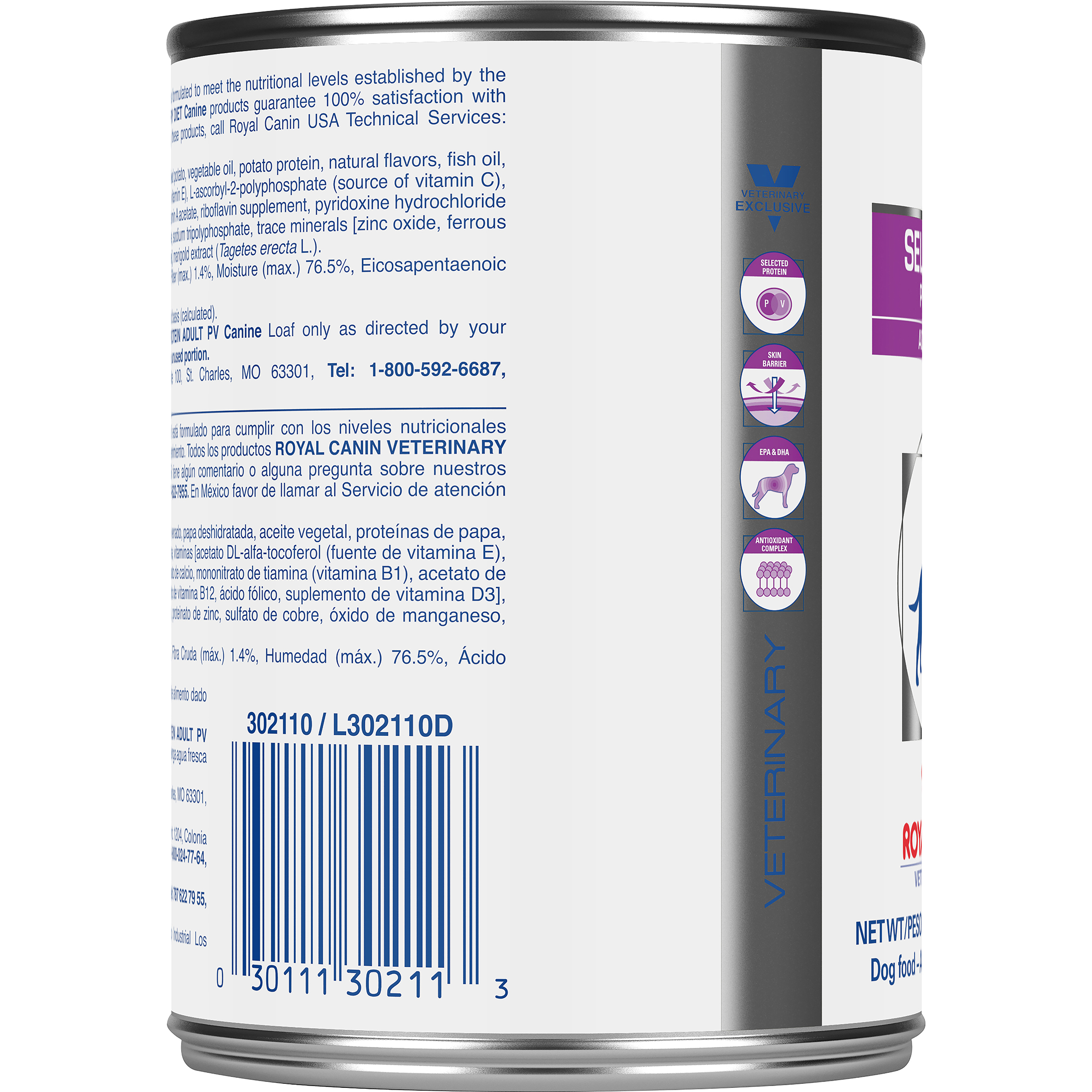 Royal Canin Veterinary Diet Canine Selected Protein Adult PV Canned Dog Food