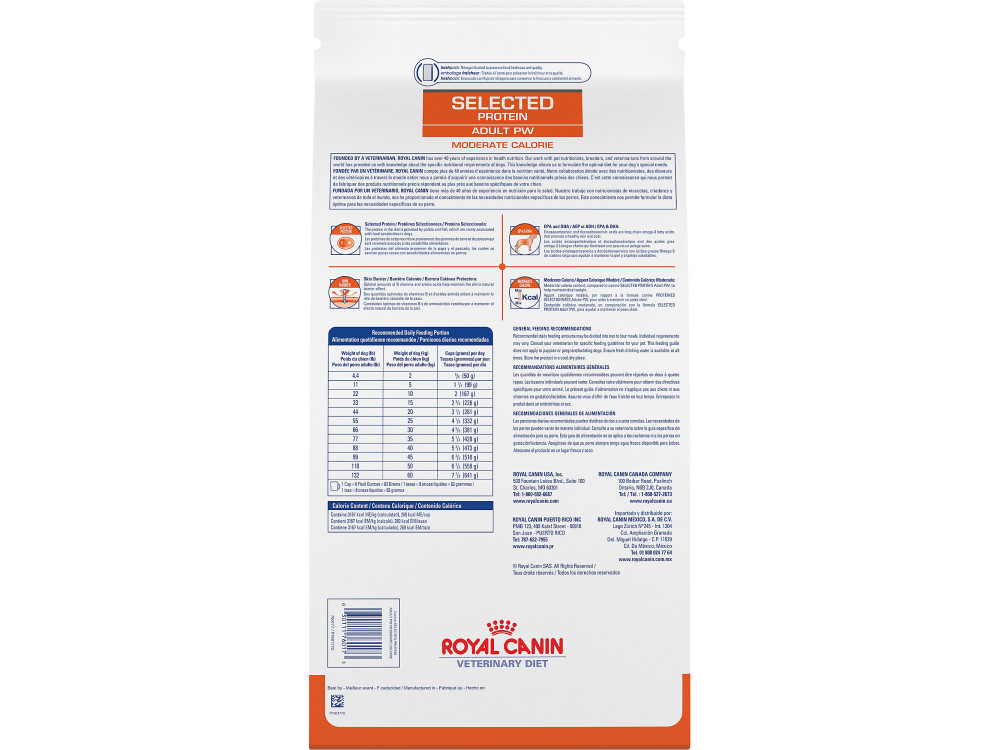 Royal Canin Veterinary Diet Canine Selected Protein Adult PW Moderate Calorie Dry Dog Food