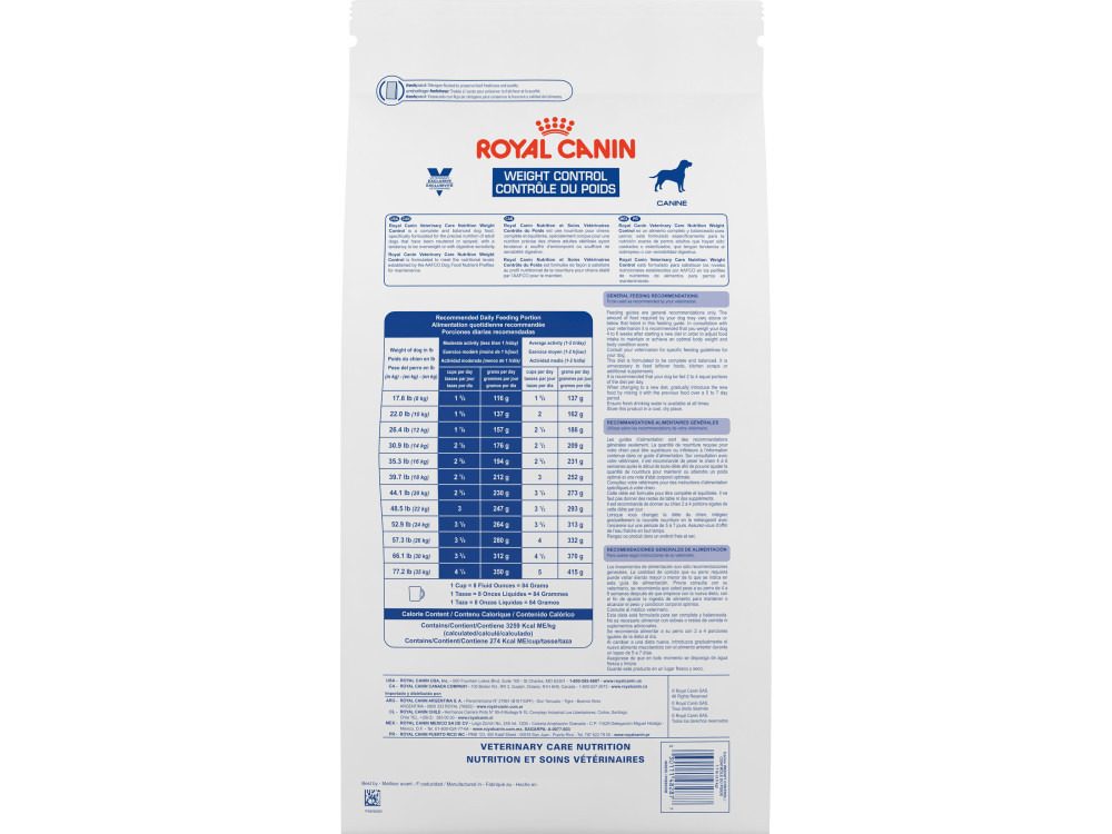 Royal Canin Veterinary Care Nutrition Canine Weight Control Dry Dog Food