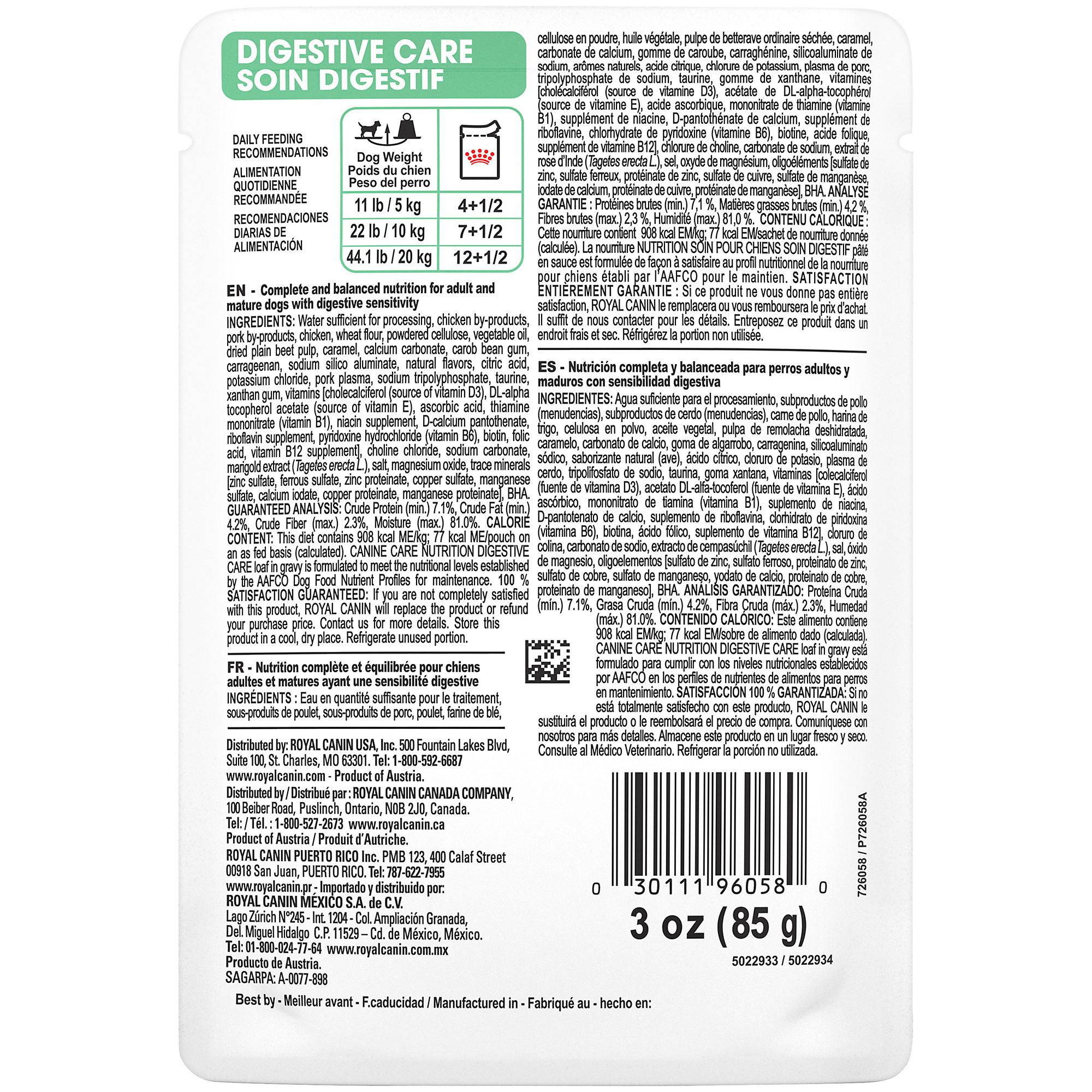 Digestive Care Pouch Dog Food