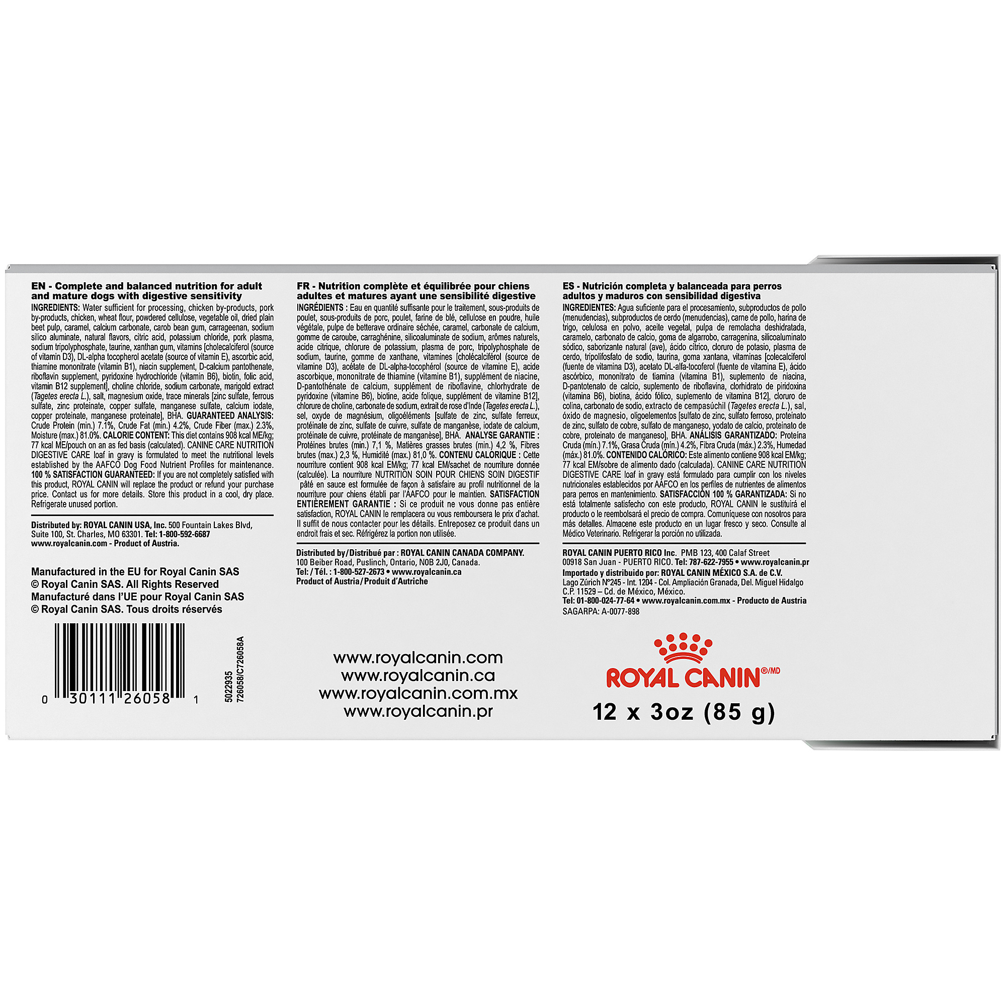 Royal Canin Canine Care Nutrition Digestive Care Pouch Dog Food