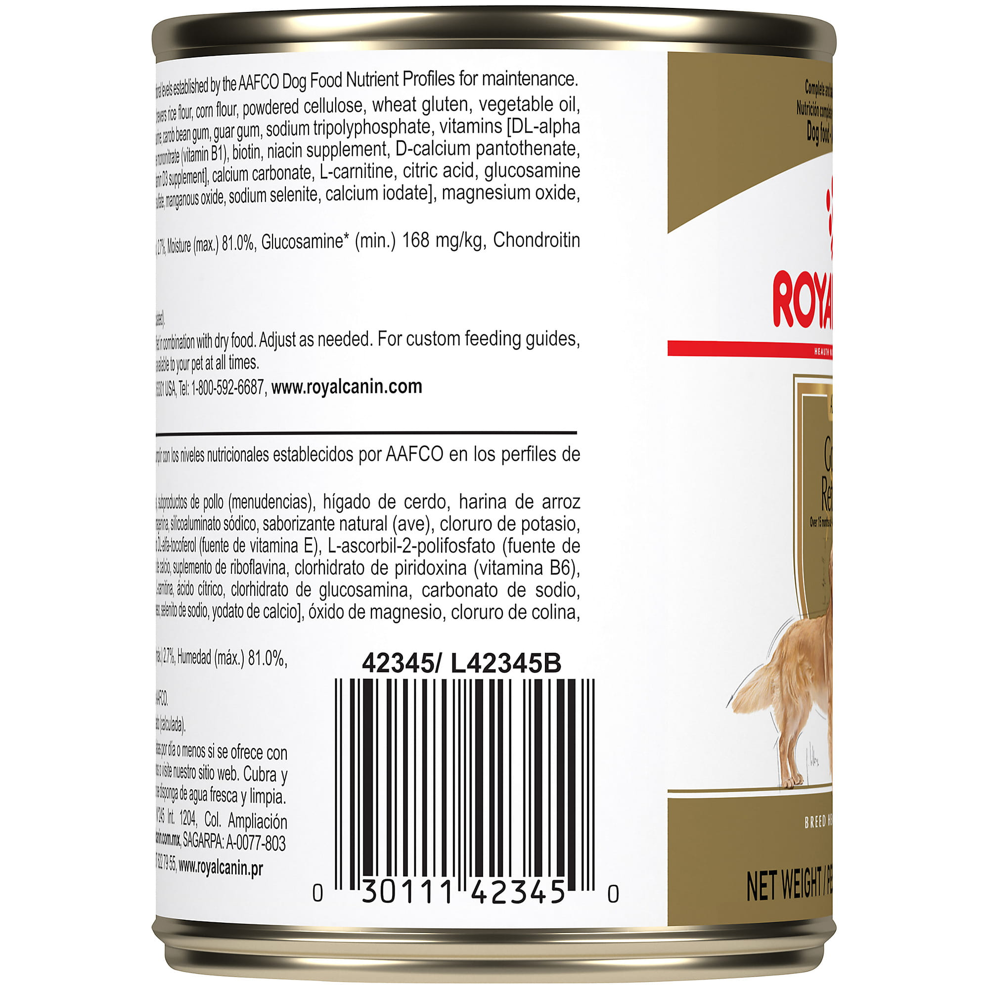 Royal Canin Breed Health Nutrition Golden Retriever Adult Canned Dog Food