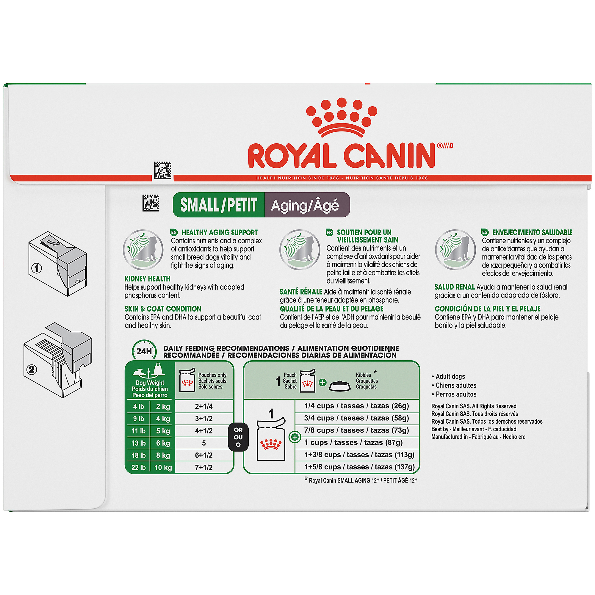 Royal Canin Size Health Nutrition Small Aging 12+ Pouch Dog Food