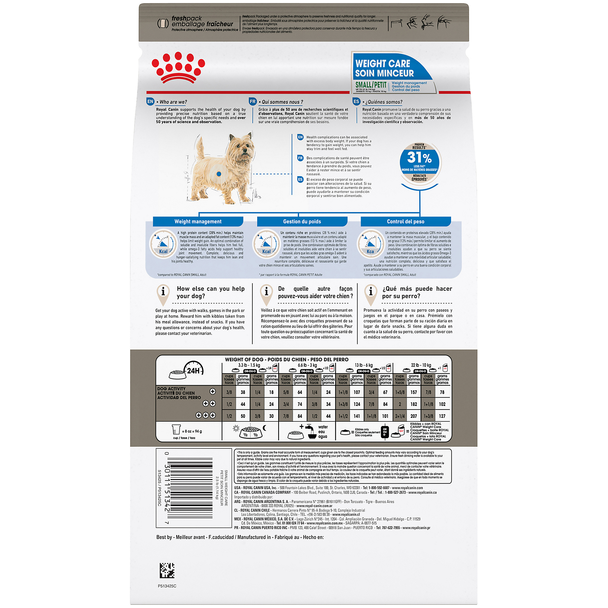 Royal Canin Canine Care Nutrition Small Weight Care Dry Dog Food