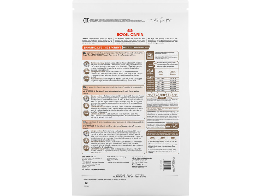 Royal Canin Lifestyle Health Nutrition Sporting Life Trail 4300 Dry Dog Food