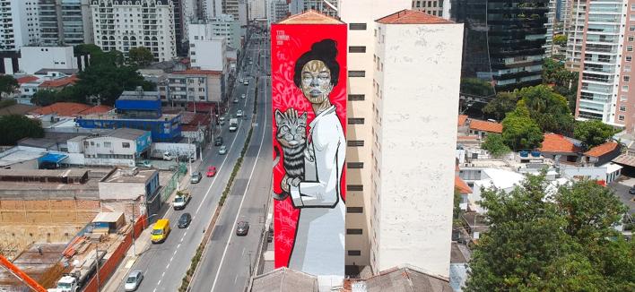 ROYAL CANIN VIABILIZA ARTE GIGANTE NA CIDADE DE SÃO PAULO PARA CONSCIENTIZAR SOBRE A SAÚDE DOS FELINOS